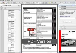 Mazda Rx7 Rx 7 1986   1992 Fc Ultimate Oem Service Repair Workshop Fsm Manual - $14.95