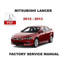2012 2013 MITSUBISHI LANCER OEM FACTORY SERVICE REPAIR WORKSHOP SHOP FSM... - $14.95