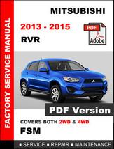 2013 2014 2015 Mitsubishi Rvr Es Se Awc Limited Service Repair Workshop Manual - $14.95