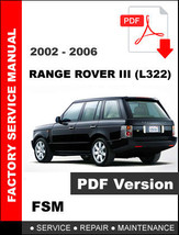 2002 - 2006 LAND ROVER RANGE ROVER III L322 FACTORY OEM SERVICE REPAIR M... - $14.95