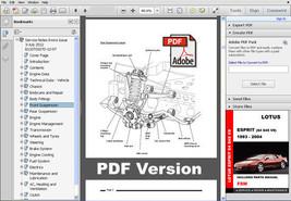 1993   2004 Lotus Esprit Factory Oem Service Repair Workshop Shop Fsm Manual - $14.95