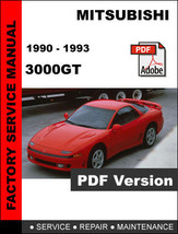 MITSUBISHI 3000GT 1990 1991 1992 1993 ULTIMATE SERVICE REPAIR WORKSHOP M... - $14.95