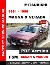 MITSUBISHI 1991 1992 1993 1994 1995 1996 MAGNA SERVICE REPAIR WORKSHOP M... - $14.95