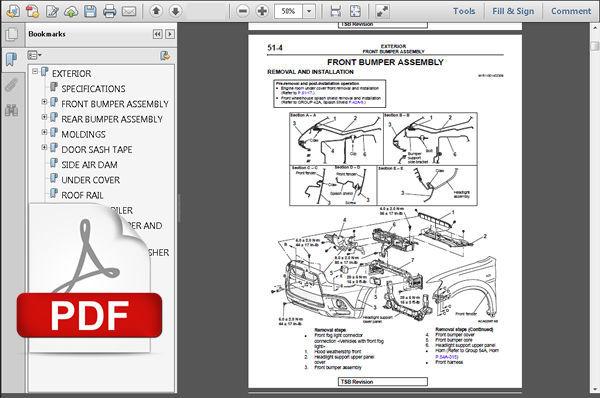 2011 - 2012 Mitsubishi Outlander Sport Factory Service Manual   Circuit Diagram