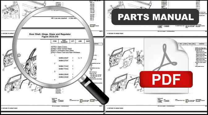 2002 - 2008 JEEP LIBERTY DIESEL OEM SERVICE REPAIR PARTS CATALOG PART MANUAL