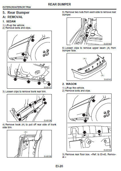 subaru liberty 1998 - 2003 factory service repair fsm manual   wiring diagram