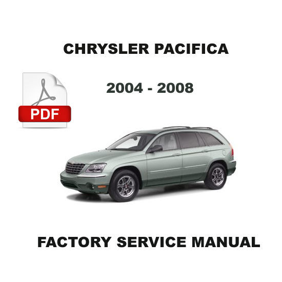 chrysler pacifica 2004 2008 factory oem service repair. Black Bedroom Furniture Sets. Home Design Ideas