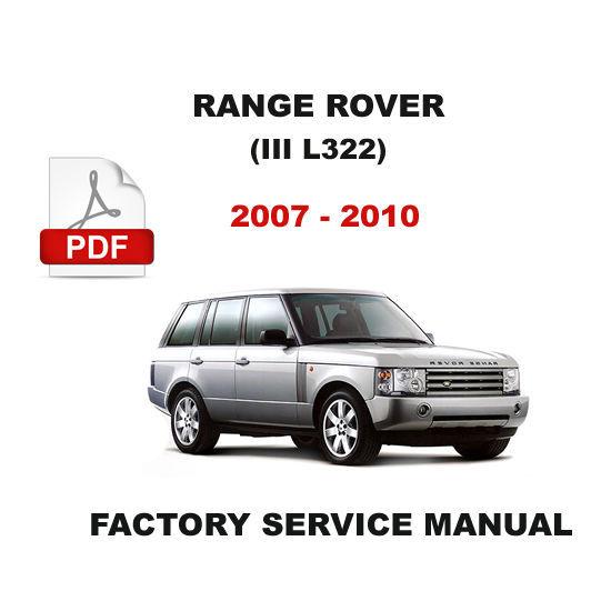 range rover l322 2007 2010 workshop service repair manual