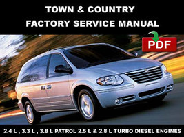 Chrysler Town & Country  2001   2005 Oem Maintenance Manual + Wiring Diagram - $14.95