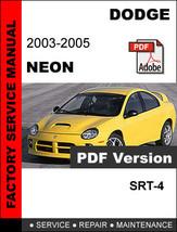 DODGE NEON SRT4 2003 - 2005 FACTORY SERVICE REPAIR WORKSHOP ELECTRICAL M... - $14.95