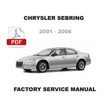 CHRYSLER SEBRING 2001 - 2006 FACTORY BODY CHASSIS POWERTRAIN TRANSMISSIO... - $14.95