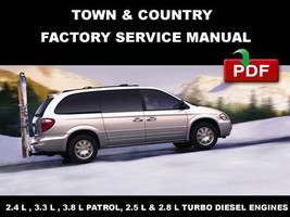 Chrysler Town & Country  2001   2005 Oem Service Repair Manual + Wiring Diagram - $14.95