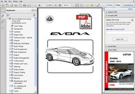Lotus Evora 2009   2012 Ultimate Oem Factory Service Repair Workshop Fsm Manual - $14.95
