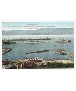 1909 - Gibraltar - View of Harbor with Fleets - Unused  - $4.99