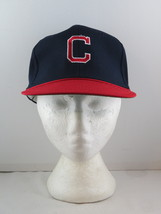 Cleveland Indians Hat (VTG) - 1970s All Polyester by Twins - Adult Sanpback - $49.00