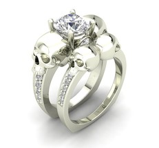 Skull Engagement Ring Set in 10 k  - $1,099.00
