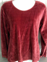 Hunt Club Maroon Velveteen Shirt, Size Large, Gently Worn, Casual Wear - $9.99