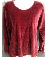 Hunt Club Maroon Velveteen Shirt, Size Large, Gently Worn, Casual Wear - $9.99
