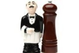 Pepper Mill and Waiter Salt and Pepper Shaker Set - $10.10