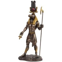11 Inch Egyptian Sobek Mythological God Bronze Finish Statue Figurine - $38.60