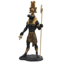 11 Inch Egyptian Sobek Mythological God Resin Statue Figurine - $33.65