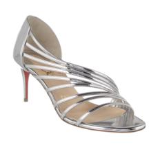 Christian Louboutin Silver Norina 70MM Sandals New - $1,079.00