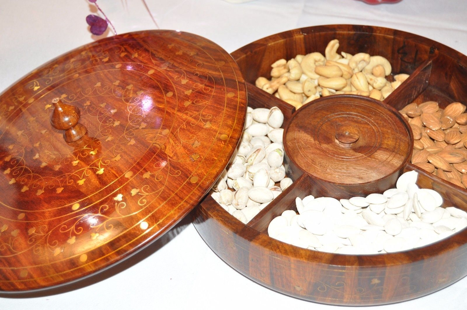 Dry Fruit Tray Kitchen Decorative Wooden Trays