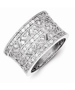 VINTAGE STYLE POLISHED STERLING SILVER  CZ RING -SIZE 6 - $74.73