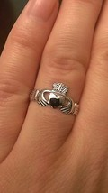 14K WHITE GOLD POLISHED CLADDAGH RING  (WOMEN/LADIES) 1.4 GRAMS  SIZE 6.5 - £84.06 GBP