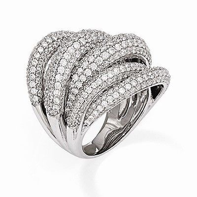 UNIQUE MODERN DESIGN STERLING SILVER WITH CZ CONTEMPORARY RING -SIZE 7