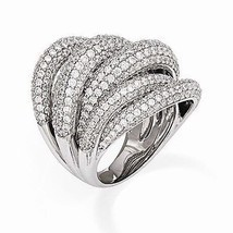 UNIQUE MODERN DESIGN STERLING SILVER WITH CZ CONTEMPORARY RING -SIZE 7 - €166,97 EUR