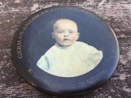 Antique Advertising Pocket Mirror German American Life Insurance of Iowa... - $24.70