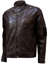 Soft Men's Brown Leather Jacket | LJM - $199.99