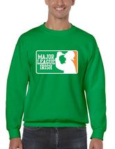 Men's  Crewneck Sweatshirt Saint Patrick's Day Major League Irish Irish Shirt - $22.00