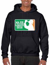 Men's  Hooded Sweatshirt Saint Patrick's Day Major League Irish Irish Shirt - $26.00