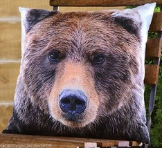 "17.7"" Polyester Bear Head Decorative Pillow"