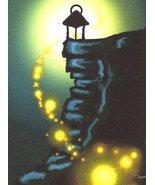 Akimova: AT NIGHT, landscape,fantasy,ACEO - $5.99