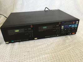 Vintage Sansui Stereo Dual Cassette Deck D-W9 FOR REPAIR NEEDS NEW BELTS - $29.67
