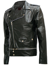 Fascinating Black Leather Jacket Men's | LJM - $199.99