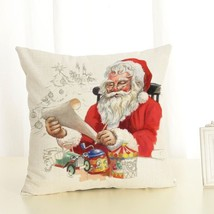 Christmas Decorations For Home Christmas Pillow cover Santa Claus And Do... - $4.99