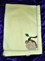 Lambs & and Ivy Yellow Monkey Face Baby Fleece Blanket - $44.54