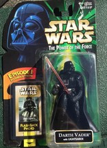 "Hasbro Star Wars Potf 1998 4"" Darth Vader With Lightsaber & Flashback Photo New - $9.49"