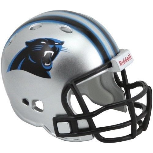 "CAROLINA PANTHERS POCKET PRO HELMET 2"" SIZE  Made By RIDDELL! NFL FOOTBALL"
