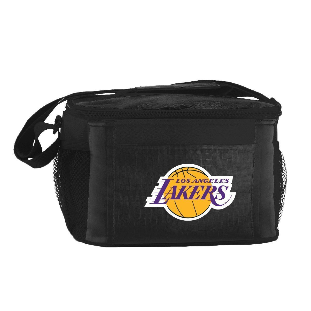 LOS ANGELES LAKERS LUNCH TOTE 6 PK BEER SODA TEAM LOGO KOOLER BAG NBA BASKETBALL