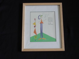 "Framed, Under Glass Janice Earhart ( iZoar ) ""Vision"" Print - $25.00"