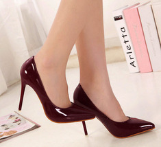pp006 sexy pointed pumps, 11 cm heels size 35-39, burgundy - $69.99