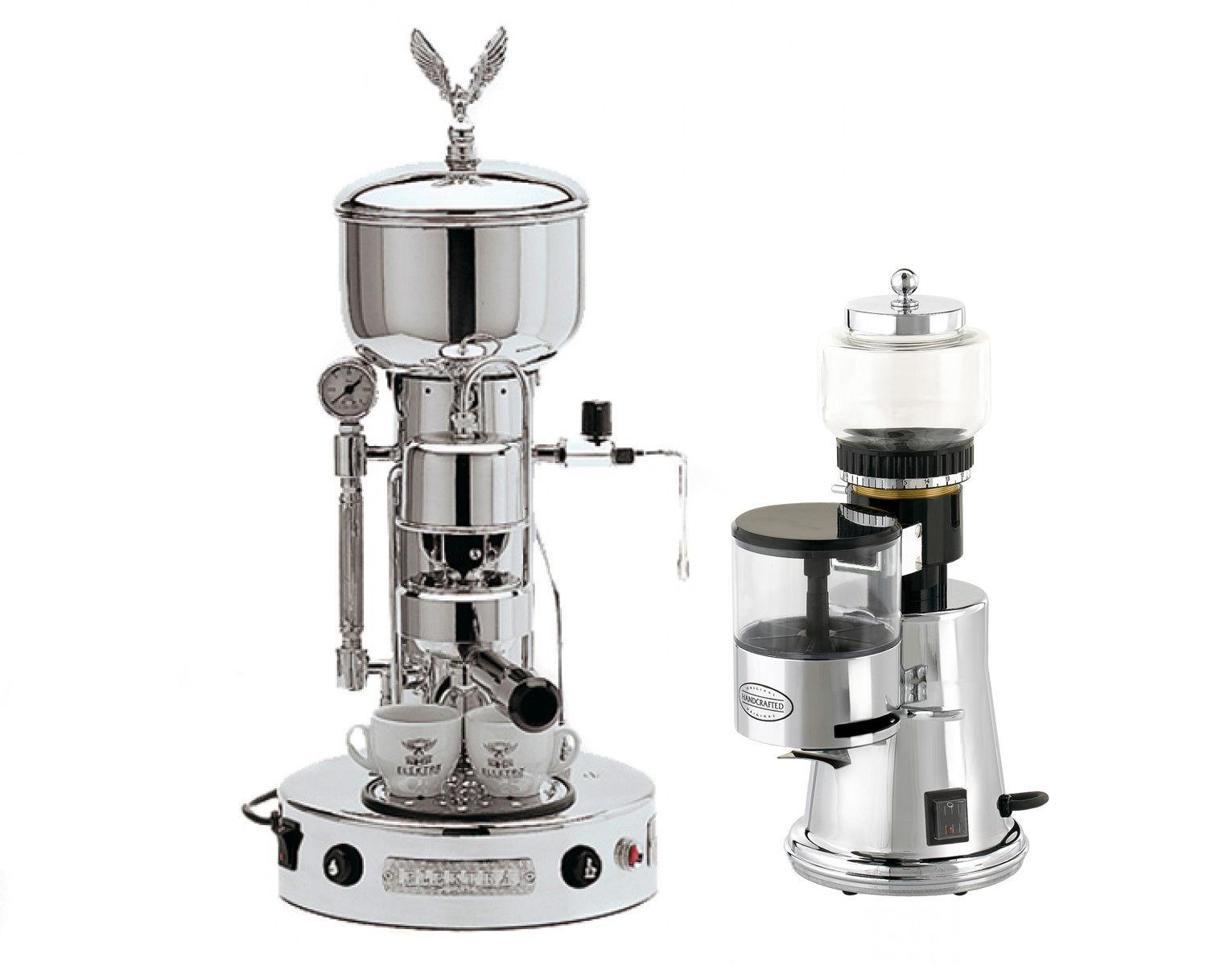 Elektra Semiautomatica Microcasa Machine+Grinder MS Italian Espresso Set 220V