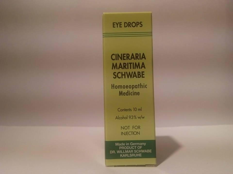 Dr William Schwabe Cineraria Maritima GERMAN HOMEOPATHIC  Eye Drops 10mL