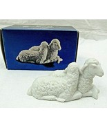 "Vintage Avon Nativity Sheep Animal Porcelain Figurine 2"" x 4"" White 1983 - $19.79"