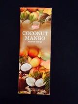 New scent!!  Hem Coconut Mango Stick Incense Bulk Box Savings 120 Sticks - $8.95